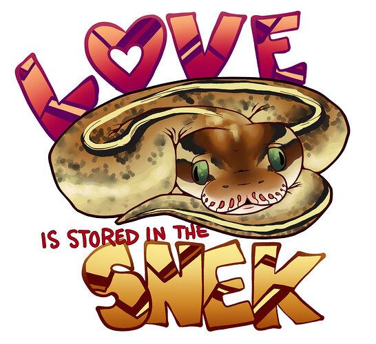 DIESEL_Love is stored in the snek