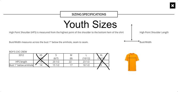 youth-sizing